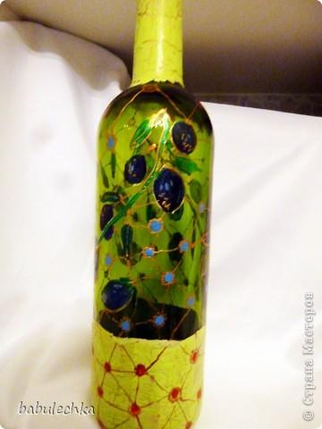 Бутылки,банки  разные в технике декупаж,роспись. фото 2