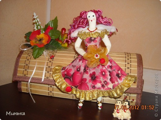 Тильда Цветочный ангел фото 2