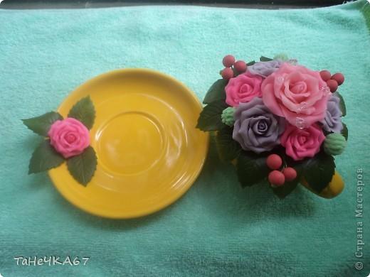 Идею сделать чашечки,я увидела у Ol'ka,мне очень она понравилась. И первая чашечка была хирургу.... фото 7
