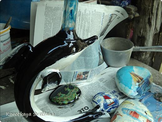 Вот и у меня дома появился кусочек моря. Думала, чем украсить еще палисадничек, эдаким необычным. фото 10