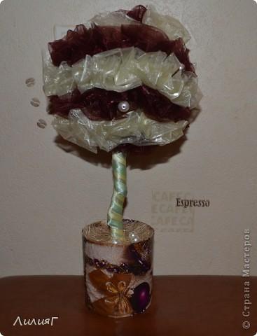 Мое второе деревце  сделано из органзы. Хотелось чего-то легкого =)) фото 1
