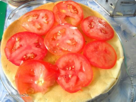 сегодня решили себя побаловать овощным тортиком), наш папа просил с колбаской-но лень было идти до магазина) фото 8