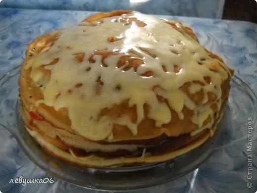 сегодня решили себя побаловать овощным тортиком), наш папа просил с колбаской-но лень было идти до магазина) фото 10