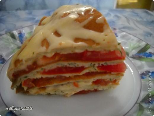 сегодня решили себя побаловать овощным тортиком), наш папа просил с колбаской-но лень было идти до магазина) фото 1