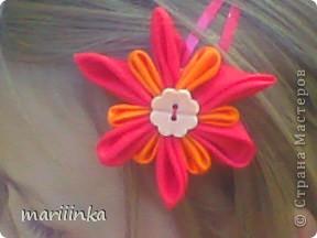 попробовали с дочкой делать цветочки канзаши. фото 4
