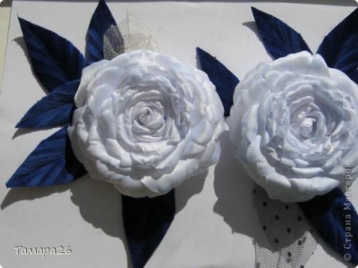 Приветствую жителей прекрасной Страны!! Я сегодня опять с розами, не отпускают они меня, пока это просто цветы, но конечно станут украшением.  МК тут http://forum.say7.info/topic39741-525.html фото 7