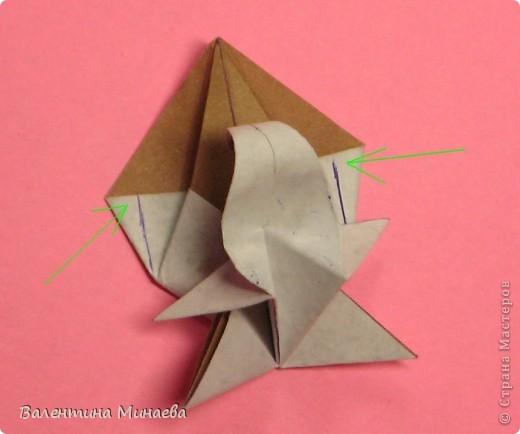 Оазис (Oasis)  автор: Валентина Минаева (Valentina Minayeva)  для бумаги с двусторонним эффектом  Для данной кусудамы брала размер бумаги 7,0 х 7,0 см  модули несимметричные, 60 штук  итог - 11,5 см  с клеем  Есть также видео: http://www.youtube.com/watch?v=LLzShYpQ6Uw&feature=youtu.be  фото 22
