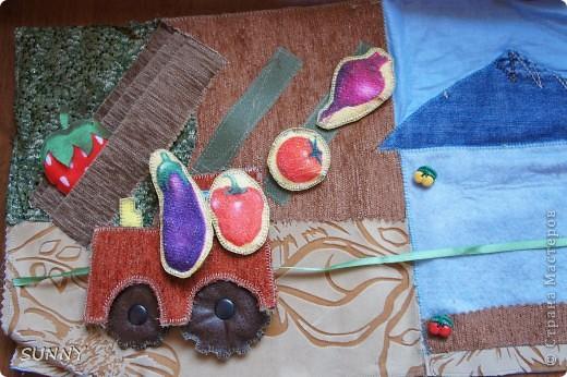 Решила выставить фотографии развивающих страничек, которые я сделала для своего сынули. Буду рада, если они будут полезны тем, кто планирует изготовление развиваек для своих малышей! Первая страничка- яблоня с цветами и яблоками (на липах). Тех и других по пять штук. Можно собирать, сортируя: в один мешочек-яблоки, в другой-цветочки. Помогает развить понимание первичного счета.Мешочки тоже на липах, чтобы можно было брать в ручки, справляясь с завязочками. фото 9