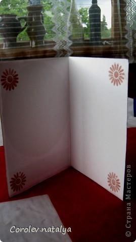 И это снова я ,но уже с открытками. Продолжаю учиться и пытаюсь делать многослойные откыткии с цветами ручной работы. Критику принимаю,советы тем более! фото 9