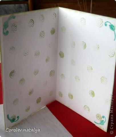 И это снова я ,но уже с открытками. Продолжаю учиться и пытаюсь делать многослойные откыткии с цветами ручной работы. Критику принимаю,советы тем более! фото 11