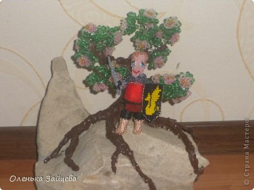 """Это Артур:) На эту поделку меня вдохновил сериал """"Мерлин"""". От плетения получила массу удовольствия!! Машенька спасибо за конкурс!!!! фото 2"""