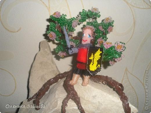 """Это Артур:) На эту поделку меня вдохновил сериал """"Мерлин"""". От плетения получила массу удовольствия!! Машенька спасибо за конкурс!!!! фото 3"""