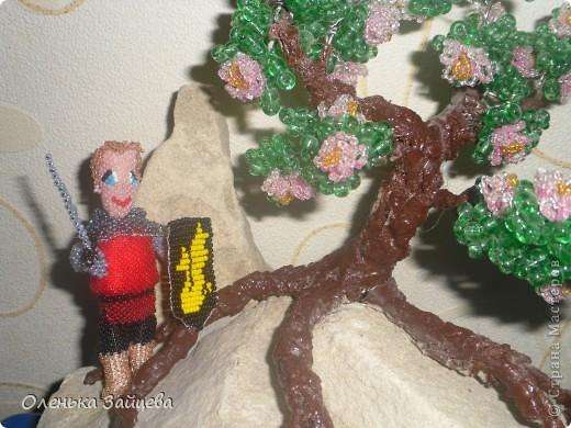 """Это Артур:) На эту поделку меня вдохновил сериал """"Мерлин"""". От плетения получила массу удовольствия!! Машенька спасибо за конкурс!!!! фото 1"""