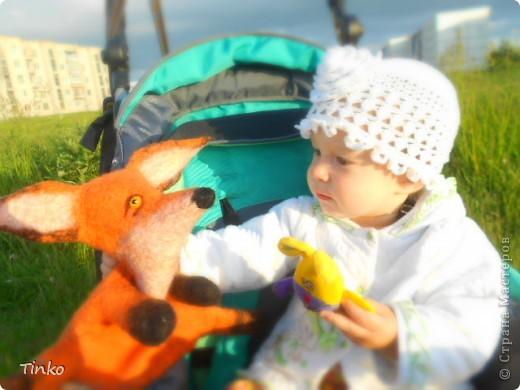 Теперь у нас есть вот такой зверь!!!! Валялся для доченьки по МК Ярославы Тройнич, она делает потрясающие игрушки!!! Советую посмотреть всем, кто валяет! http://vk.com/album1322385_118723385 http://vk.com/away.php?to=http%3A%2F%2Fyaroslava-t.livejournal.com%2F24788.html Это ссылка на МК. фото 2