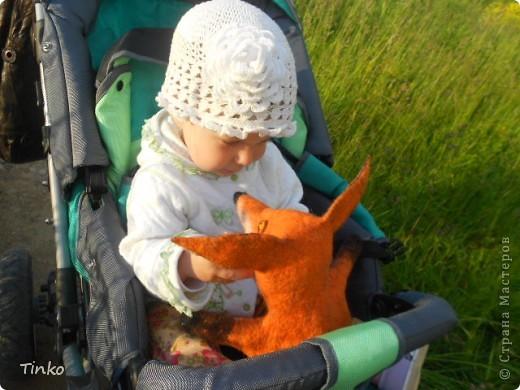 Теперь у нас есть вот такой зверь!!!! Валялся для доченьки по МК Ярославы Тройнич, она делает потрясающие игрушки!!! Советую посмотреть всем, кто валяет! http://vk.com/album1322385_118723385 http://vk.com/away.php?to=http%3A%2F%2Fyaroslava-t.livejournal.com%2F24788.html Это ссылка на МК. фото 3