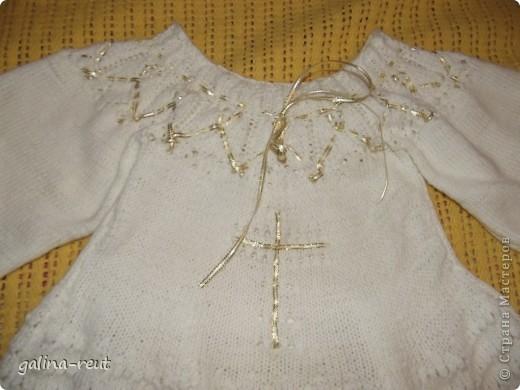 Очень долго искали красивую крестильную рубашечку. Потом решила сама связать, вот что вышло. фото 2
