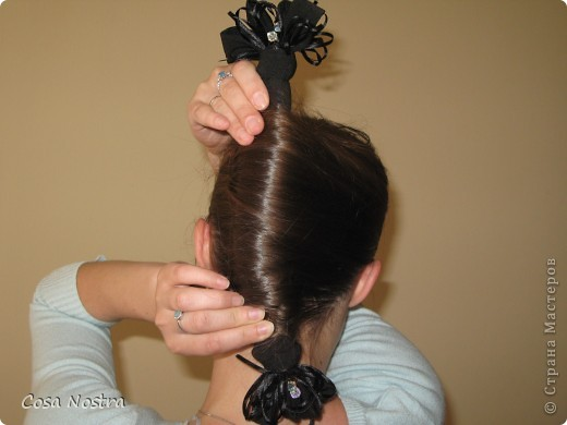 Мастер-класс Прическа Прическа с заколкой д/волос Софист-о-твист Кокетка Волосы фото 12