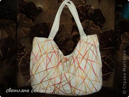 Вот такую сумочку сшила себе на лето. фото 5