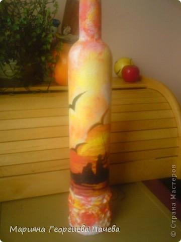 Декоративна бутилка фото 2
