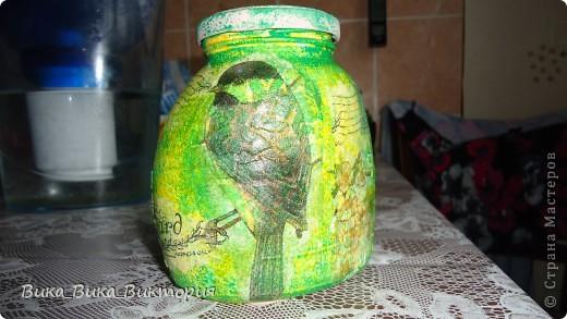 Баночка из под кофе теперь будет баночкой для зелёного чая)))По-моему очень она подходит для этой цели)) фото 1