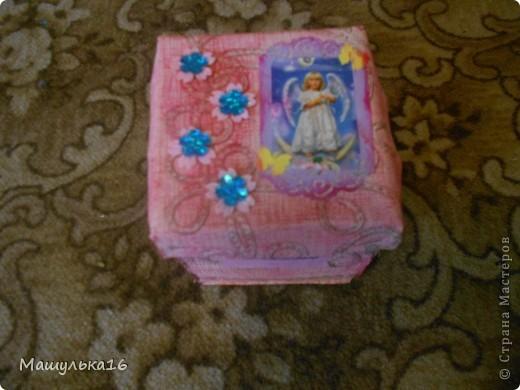 Моя коробочка.Я сделала ее в подарок на день рождение для подружки. фото 1