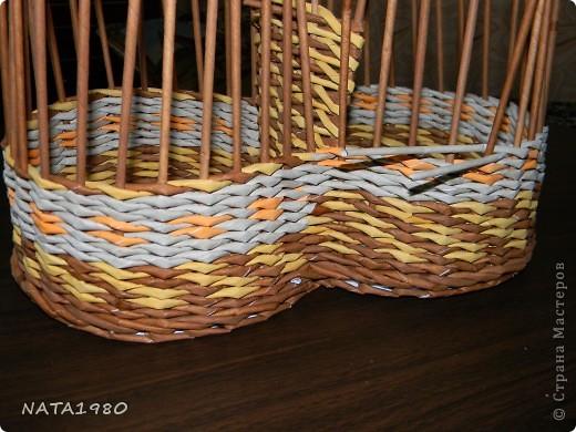 """Девушка, для которой я делала эту плетенку,изначально хотела корзинку,в которую собиралась складывать и бижутерию и много всего другого,,,вот и родилась идея """"сиамских близнецов"""" фото 5"""