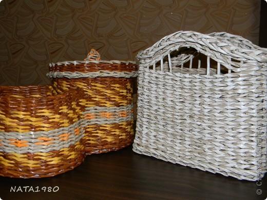 """Девушка, для которой я делала эту плетенку,изначально хотела корзинку,в которую собиралась складывать и бижутерию и много всего другого,,,вот и родилась идея """"сиамских близнецов"""" фото 7"""