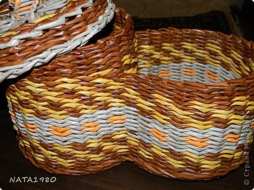 """Девушка, для которой я делала эту плетенку,изначально хотела корзинку,в которую собиралась складывать и бижутерию и много всего другого,,,вот и родилась идея """"сиамских близнецов"""" фото 6"""