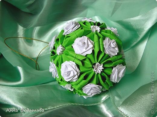 Очень люблю кусудамы с цветами! фото 2