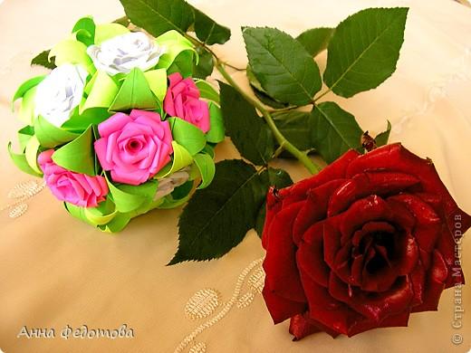 Очень люблю кусудамы с цветами! фото 7