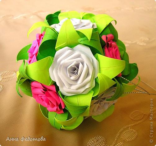 Очень люблю кусудамы с цветами! фото 8