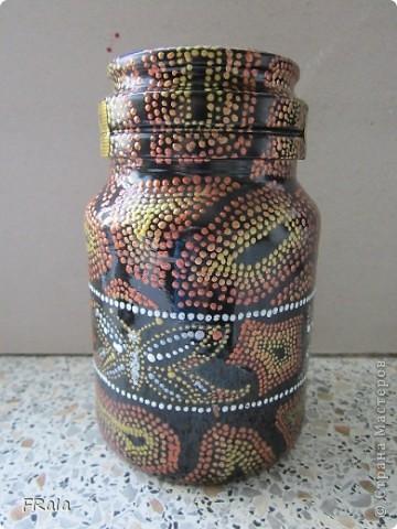 баночка кофе,чёрный грунт,контуры: белый,медь,бронза,серебро,золото и глиттер серебро. фото 1