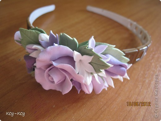 Заколочки .... и ободки....с цветами... фото 3