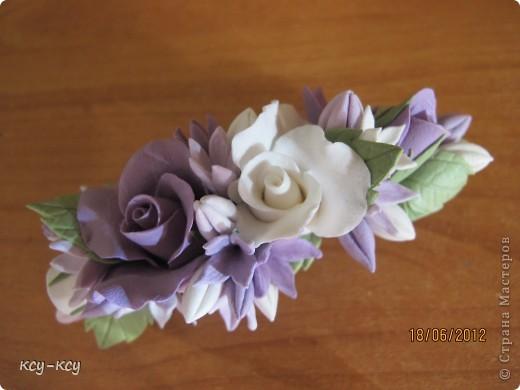 Заколочки .... и ободки....с цветами... фото 4