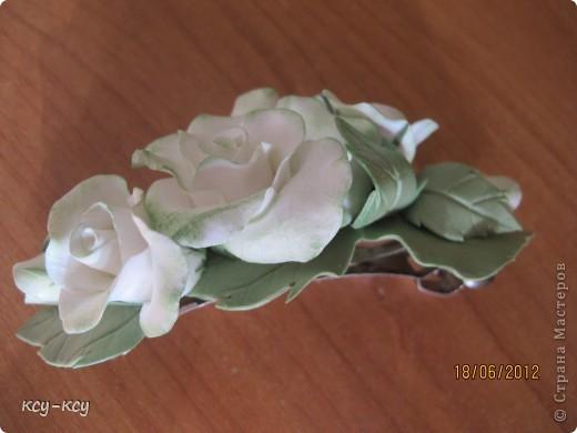 Заколочки .... и ободки....с цветами... фото 5