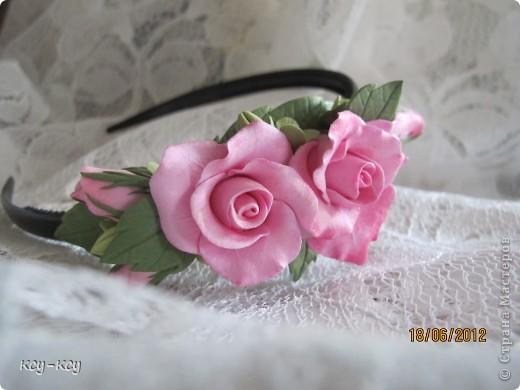 Заколочки .... и ободки....с цветами... фото 7