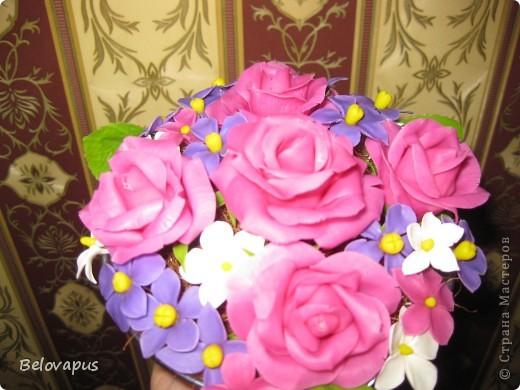 Розовые букеты фото 2