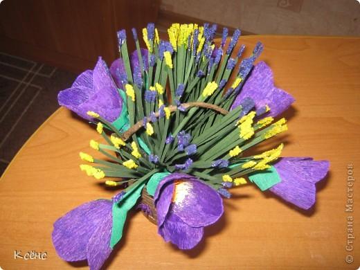 Здравствуйте, мастерицы! Очень понравились ведерки с цветами от Елены15. 12. Решилась повторить, тем более что у невесты моего брата день рождение! Она большая любительница фиолетового цвета. Вот и получился такой подарок фото 3