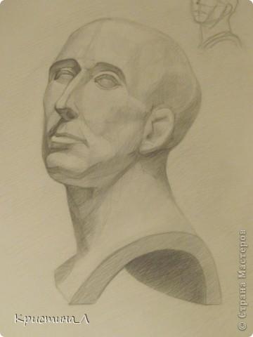 Рисунок (гипсовая голова) фото 1