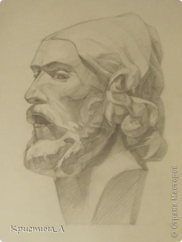Рисунок (гипсовая голова) фото 2