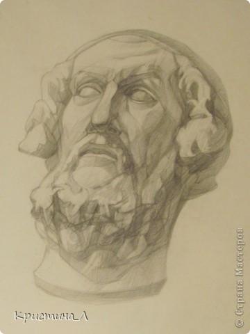 Рисунок (гипсовая голова) фото 3
