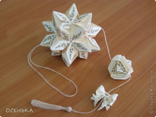 кусудама Rafaelita (http://www.kusudama.me/origami/Rafaelita) на обвесе Японская капуста (http://origami.ostrun.com/scheme/kusudama-diagrams/br..) и Бантик (https://stranamasterov.ru/node/17095?c=favorite) - бумага офисная + принт (http://files.mail.ru/156X17) фото 1