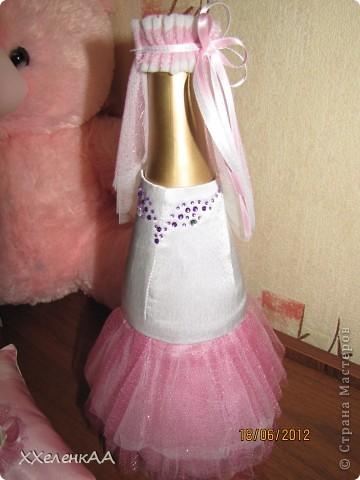Оформление свадебных бутылок фото 3