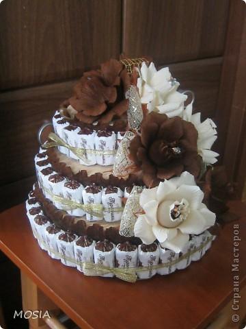 Строгий торт -  шоколадно-ванильный для мужчины, которому  за 50.... фото 1