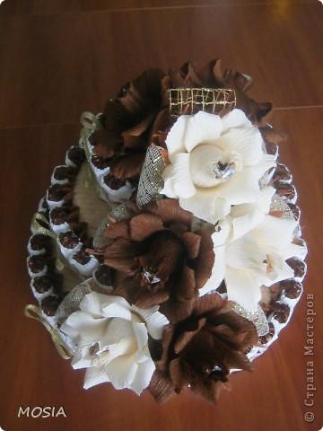 Строгий торт -  шоколадно-ванильный для мужчины, которому  за 50.... фото 2