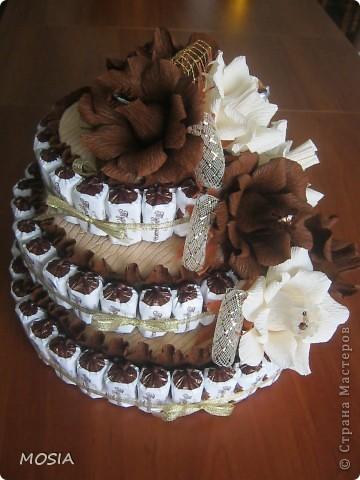 Строгий торт -  шоколадно-ванильный для мужчины, которому  за 50.... фото 5
