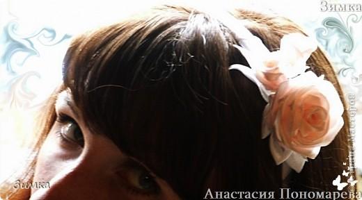 Решила попробовать сделать комплект которым можно и свадебную причёску украсить... фото 17
