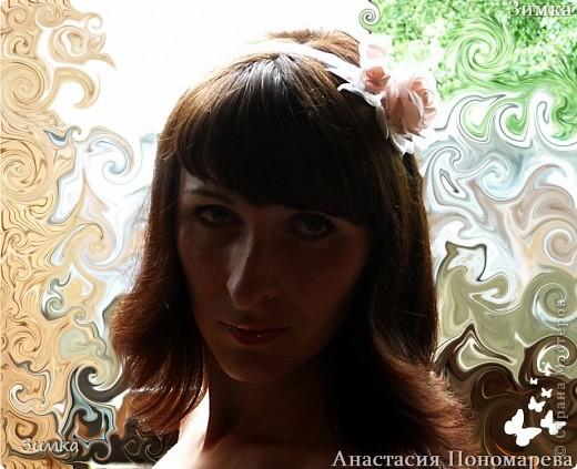 Решила попробовать сделать комплект которым можно и свадебную причёску украсить... фото 19
