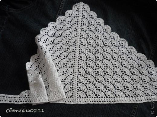 Вязание крючком - Косыночка-5