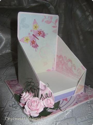 Здравствуйте, дорогие Мастерицы! Вдохновившись визитницами Наталюшки, http://stranamasterov.ru/blog/78045 сделала коробочку для бумажных блоков.  фото 1